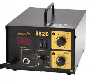 热风枪焊台SMTVIP-852D防静电设计赠送风嘴和防静电海绵